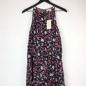Universal Thread Black Floral Dress Maxi M Halter
